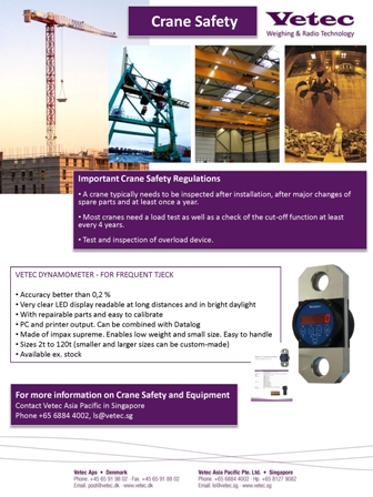 vetec crane lifting loadcell crane safety