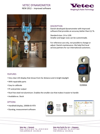 vetec crane lifting loadcell crane safety dynamometer