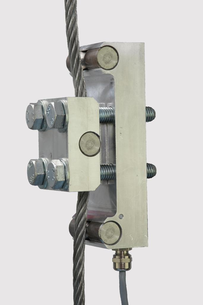 wire clamp on load cell for crane